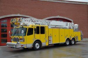yellow fire truck